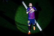 22 Aleix Vidal from Spain of FC Barcelona during the Andres Iniesta farewell at the end of the La Liga football match between FC Barcelona and Real Sociedad on May 20, 2018 at Camp Nou stadium in Barcelona, Spain - Photo Xavier Bonilla / Spain ProSportsImages / DPPI / ProSportsImages / DPPI