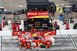 March 10, 2018 - Avondale, Arizona, United States of America - March 10, 2018 - Avondale, Arizona, USA: Michael Annett (5) brings his car down pit road for service during the DC Solar 200 at ISM Raceway in Avondale, Arizona. (Credit Image: © Chris Owens Asp Inc/ASP via ZUMA Wire)