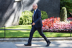 London, UK. 23 July, 2019. Sajid Javid MP, Secretary of State for the Home Department, arrives at 10 Downing Street for the final Cabinet meeting of Theresa May's Premiership. The name of the new Conservative Party Leader, and so the new Prime Minister, will be announced at a special event following the meeting.