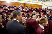 21.MAY.2012. JOPLIN<br /> <br /> CPE/PRESIDENT BARACK OBAMA GREETS GRADUATING JOPLIN HIGH SCHOOL SENIORS BEFORE THEIR COMMENCEMENT CEREMONY AT MISSOURI SOUTHERN STATE UNIVERSITY'S LEGGETT &amp; PLATT ATHLETIC CENTER IN JOPLIN, MO., MAY 21, 2012.  <br /> <br /> BYLINE: EDBIMAGEARCHIVE.CO.UK<br /> <br /> *THIS IMAGE IS STRICTLY FOR UK NEWSPAPERS AND MAGAZINES ONLY*<br /> *FOR WORLD WIDE SALES AND WEB USE PLEASE CONTACT EDBIMAGEARCHIVE - 0208 954 5968*