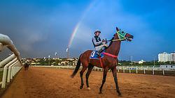 Arco-íris durante a reunião 218 em 17/11/2016, no Jockey Club do Rio Grande do Sul. FOTO: Jefferson Bernardes/ Agência Preview