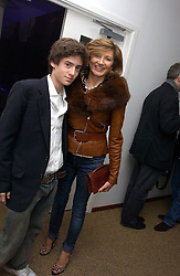 DORIT MOUSSAIEFF wife of the President of Iceland and her son JOHNNY COHEN at a party to celebrate the publication of Tatler's Little Black Book 2006 held at 24, 24 Kingley Street, London W1 on 9th November 2006.<br /><br />NON EXCLUSIVE - WORLD RIGHTS