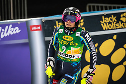 HANSDOTTER Frida of Sweden reacts upon entering the Finish during the 6th Ladies' Slalom at 55th Golden Fox - Maribor of Audi FIS Ski World Cup 2018/19, on February 2, 2019 in Pohorje, Maribor, Slovenia. Photo by Blaž Weindorfer / Sportida