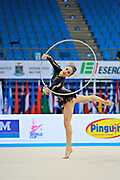 Berezina Polina during qualifying at hoop in Pesaro World Cup 10 April 2015.<br />