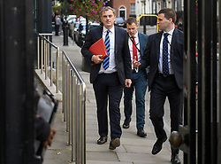 © Licensed to London News Pictures. 10/09/2019. London, UK. Northern Ireland Secretary JULIAN SMITH MP is seen leaving cabinet meeting at Downing Street in London. British Prime Minister Boris Johnson Last night prorogued Parliament in the run up to Britain's planned Brexit deadline of October 31st. Photo credit: Ben Cawthra/LNP