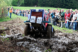 CZECH REPUBLIC VYSOCINA NEDVEZI 9MAY15 - Dirt Derby parcours race during Tractor festival 'Traktoriada' in the village of Nedvezi, Vysocina, Czech Republic. Turnout was surprisingly large with over 100 tractors and hundreds of spectators to this event, held for the second time.<br /> <br /> jre/Photo by Jiri Rezac<br /> <br /> © Jiri Rezac 2015