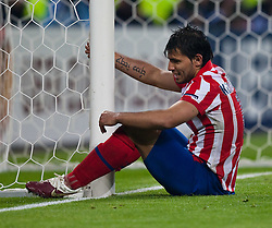 12.05.2010, Hamburg Arena, Hamburg, GER, UEFA Europa League Finale, Atletico Madrid vs Fulham FC im Bild Sergio Agüero, #10, Atletico Madrid, EXPA Pictures © 2010, PhotoCredit: EXPA/ J. Feichter / SPORTIDA PHOTO AGENCY