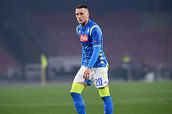 February 21, 2019 - Naples, Naples, Italy - Piotr Zielinski of SSC Napoli during the UEFA Europa League Round of 32 Second Leg match between SSC Napoli and FC Zurich at Stadio San Paolo Naples Italy on 21 February 2019. (Credit Image: © Franco Romano/NurPhoto via ZUMA Press)