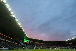 A sunset over iPro Stadium during the game between Derby County and Middlesbrough - Mandatory byline: Dougie Allward/JMP - 07966386802 - 18/08/2015 - FOOTBALL - iPro Stadium -Derby,England - Derby County v Middlesbrough - Sky Bet Championship