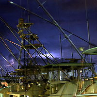 (SPORTS)  8/6/2003  A lightning storm passes throught the Ocean City area as seen from this view from the Sunset Marina.   Michael J. Treola Staff Photographer...MJT