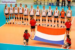 20140426 NED: Jong Oranje Vrouwen - Roemenie, Arnhem <br /> The Netherlands, line-up<br /> ©2014-FotoHoogendoorn.nl / Pim Waslander