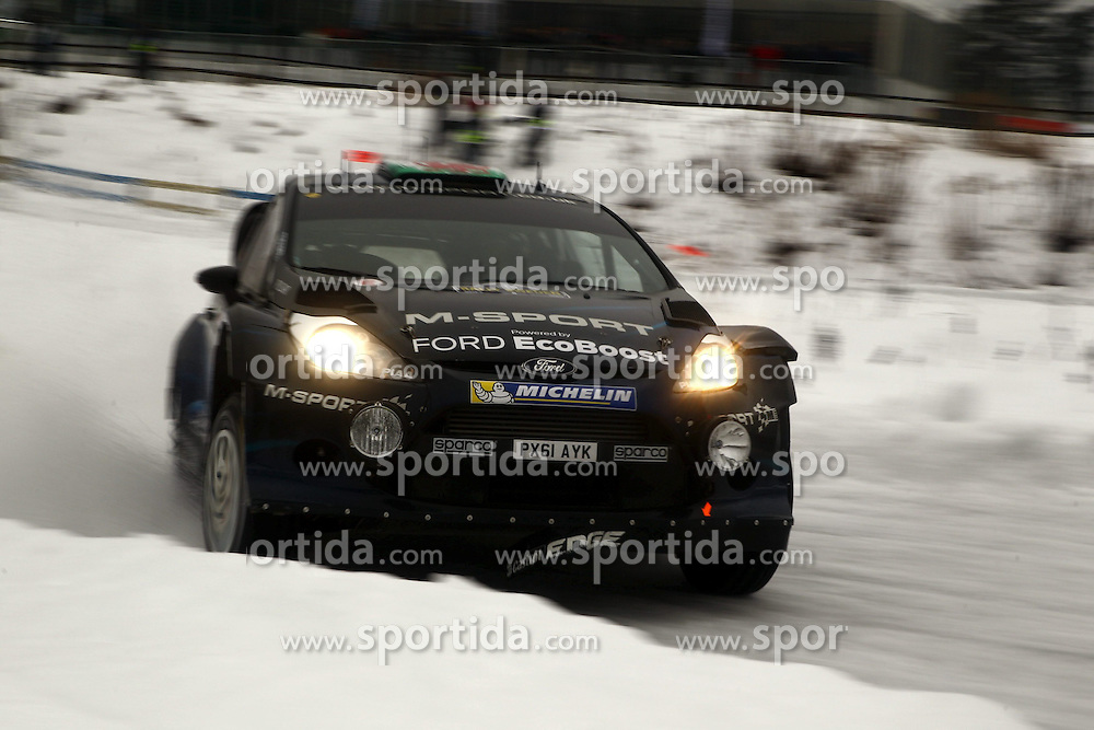 07.02.2014, Hagfors, Karlstad, SWE, FIA, WRC, Schweden Rallye, Tag 3, im Bild Elfyn Evans/Daniel Barritt (M-Sport WRT/Ford Fiesta RS WRC), Action / Aktion // during Day 3 of the FIA WRC Sweden Rally at the Hagfors in Karlstad, Sweden on 2014/02/07. EXPA Pictures &copy; 2014, PhotoCredit: EXPA/ Eibner-Pressefoto/ Bermel<br /> <br /> *****ATTENTION - OUT of GER*****