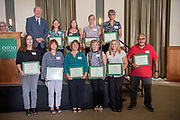 30 Years of Service award winners at at the Annual Classified Staff  Service Award Ceremony.  Photo by Ben Siege