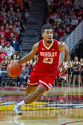 NORMAL, IL - February 16: Dwayne Lautier-Ogunleye during a college basketball game between the ISU Redbirds and the Bradley Braves on February 16 2019 at Redbird Arena in Normal, IL. (Photo by Alan Look)