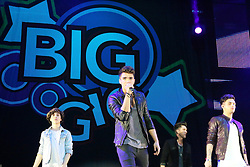 © Licensed to London News Pictures. 12/10/2013, UK. 5 George Shelley; Josh Cuthbert; Jamie Hamblett; Jaymi Hensley; Union J, , Girlguiding BIG GIG, Wembley Arena, London UK, 12 October 2013. Photo credit : Richard Goldschmidt/Piqtured/LNP