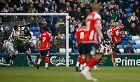 Photo: Steve Bond/Sportsbeat Images.<br /> West Bromwich Albion v Charlton Athletic. Coca Cola Championship. 15/12/2007. Chris Iwelumo (far R) head Charlton in front