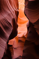Abstract detail of the sandstone formations that make the Lower Antelope Canyon, Lake Powell Navajo Tribal Park, Arizona.