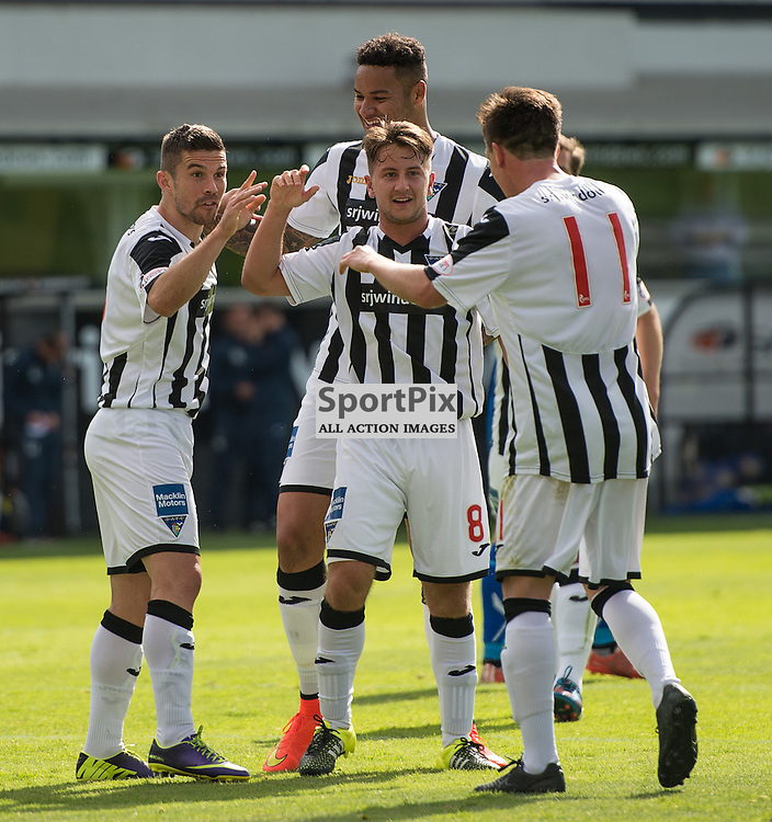 Dunfermline Athletic v Stranraer, SPFL League One, East End Park, 29 August 2015<br /> Dunfermline celebrate the second goal during the SPFL League One encounter between Dunfermline and Stranraer.<br /> ROSS PARKER | SportPix.org.uk
