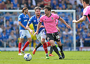 Northampton Town Defender David Buchanan and Portsmouth defender Kieron Freeman during the Sky Bet League 2 match between Portsmouth and Northampton Town at Fratton Park, Portsmouth, England on 7 May 2016. Photo by Adam Rivers.