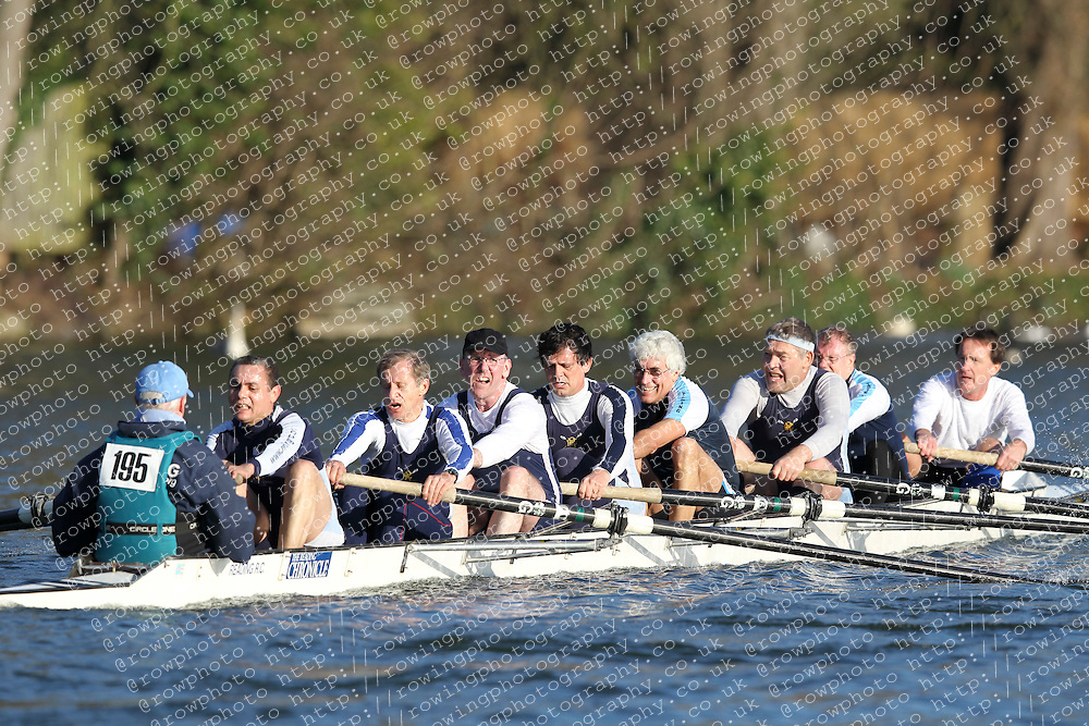 2012.02.25 Reading University Head 2012. The River Thames. Division 2. Reading Rowing Club B MasE 8+