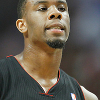 14 March 2012: Miami Heat point guard Norris Cole (30) rests during the Chicago Bulls 106-102 victory over the Miami Heat at the United Center, Chicago, Illinois, USA.