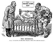 """The reversion. Turkey. """"I'm giving up thid bed, William. Won't you take my place?"""""""