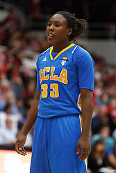 January 20, 2011; Stanford, CA, USA;  UCLA Bruins guard Jasmine Dixon (33) during the first half against the Stanford Cardinal at Maples Pavilion.  Stanford defeated UCLA 64-38.