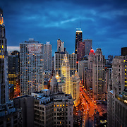 View of downtown Chicago from Hard Rock Hotel Tower Suites.