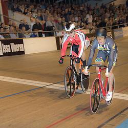 ALKMAAR (NED) baanwielrennen  <br /> Op de wielerbaan van Alkmaar streden de wielrenners om de nationale baantitels<br /> Theo Bos verlsoeg in de eerste halve finale rit regerend Europees Kampioen Jeffrey Hoogland