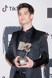 Panic at the disco in the press room during the MTV Europe Music Awards held at the Bilbao Exhibition Centre, Spain on November 4, 2018. Photo by Archie Andrews/ABACAPRESS.COM