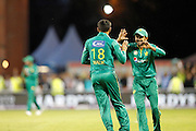 Pakistan celebrate Shoaib Malik's catch during the International T20 match between England and Pakistan at the Emirates, Old Trafford, Manchester, United Kingdom on 7 September 2016. Photo by Craig Galloway.