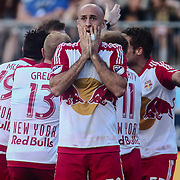 New York Red Bulls Defender AURÉLIEN COLLIN (78) reacts to a call in the first half of a Major League Soccer match between the Philadelphia Union and New York Red Bulls Sunday, July. 17, 2016 at Talen Energy Stadium in Chester, PA.