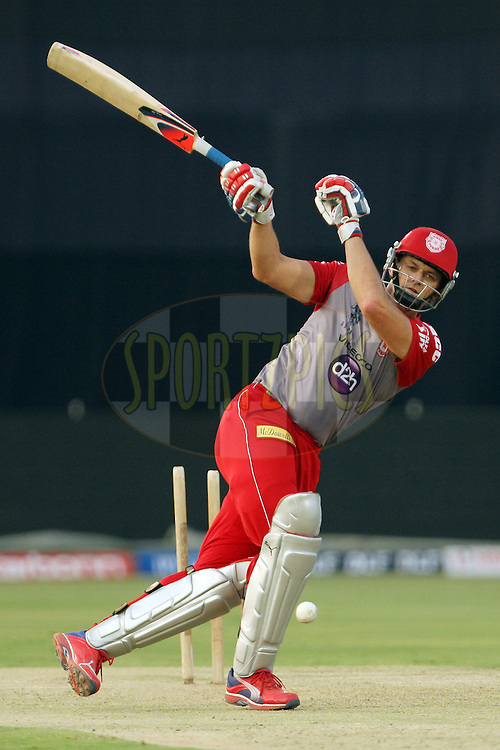Adam Gilchrist during the practice session of the Kings XI Punjab held at the Rajiv Gandhi International Stadium in Hyderabad, Andhra Pradesh, India on 7 May 2012...Photo by Jacques Rossouw/BCCI/SPORTZPICS .