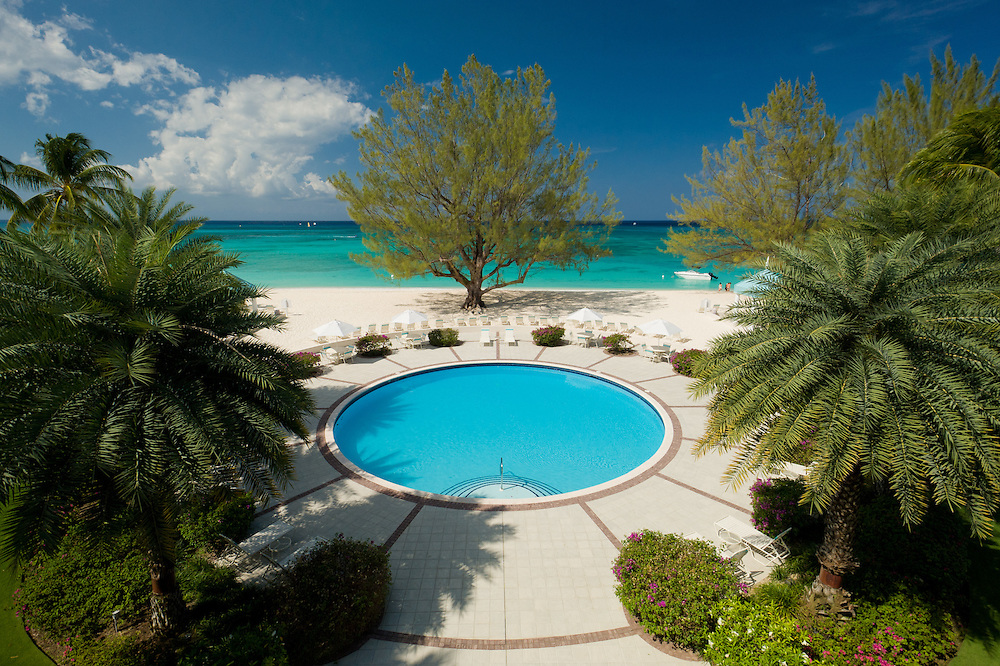 Greathouse Condominiums has a spectacular Seven Mile Beach pool view