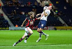 Alan Browne of Preston North End controls the ball under pressure - Mandatory byline: Matt McNulty/JMP - 07966386802 - 22/09/2015 - FOOTBALL - Deepdale Stadium -Preston,England - Preston North End v Bournemouth - Capital One Cup - Third Round