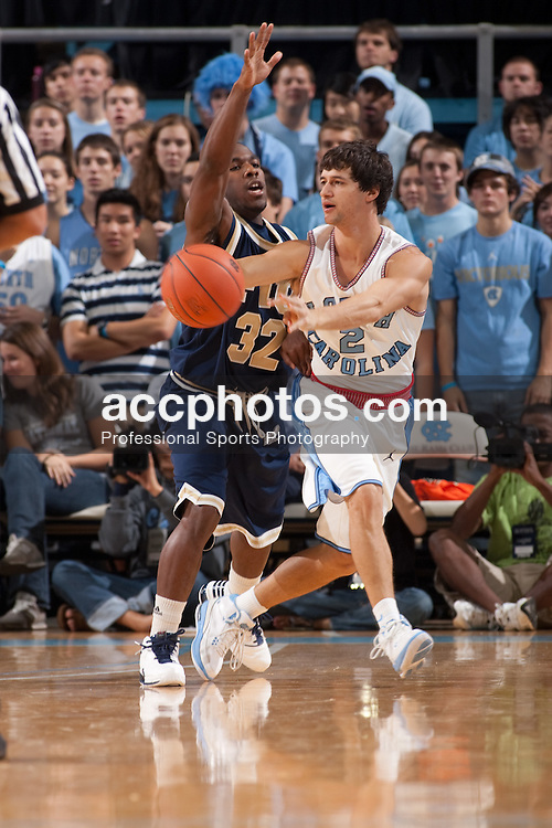 09 November 2009: North Carolina Tar Heels guard Marc Campbell (2) during a 72-88 win over the Florida International Golden Panthers at the Dean Smith Center in Chapel Hill, NC.