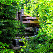 """""""Day Dreaming""""<br /> Magical and dreamy version of  historical and iconic Fallingwater during summertime!"""