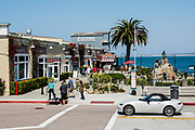 Tourists Out Walking Around At Cannery Row in Monterey California