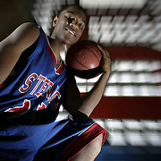 White Plains, NY / 2007 - Archbishop Stepinac High School senior basketball player Tony Taylor, 17, recently signed a letter of intent to play college basketball at George Washington University next season. Taylor started his senior season by averaging nearly 30 points a game. ( Mike Roy / The Journal News )