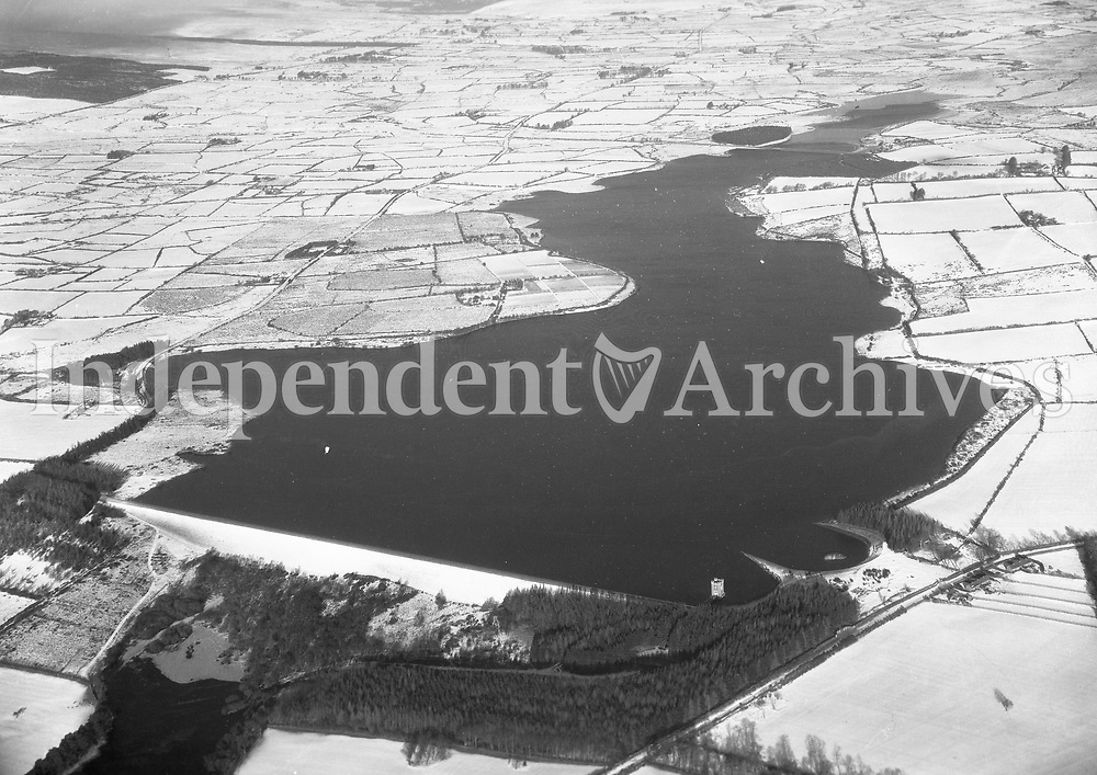 A356 Roundwood.   16/01/59 (Part of the Independent Newspapers Ireland/NLI collection.)<br /> <br /> These aerial views of Ireland from the Morgan Collection were taken during the mid-1950's, comprising medium and low altitude black-and-white birds-eye views of places and events, many of which were commissioned by clients. From 1951 to 1958 a different aerial picture was published each Friday in the Irish Independent in a series called, 'Views from the Air'.