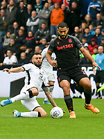 Football - 2019 / 2020 Sky Bet (EFL) Championship - Swansea City vs. Stoke City<br /> <br /> Borja Bastón of Swansea City &Cameron Carter-Vickers of Stoke City , at the Liberty Stadium.<br /> <br /> COLORSPORT/WINSTON BYNORTH