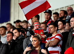 Doncaster Rovers fans - Mandatory by-line: Robbie Stephenson/JMP - 29/04/2017 - FOOTBALL - The Keepmoat Stadium - Doncaster, England - Doncaster Rovers v Exeter City - Sky Bet League Two