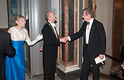 CHARLOTTE VERITY; PROF CHRISTOPHER LE BRUN; SIR CHRISTOPHER FRAYLING, Royal Academy of Arts Annual dinner. Piccadilly. London. 29 May 2012.