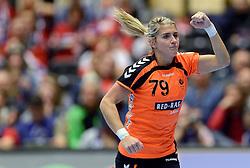 18-12-2015 DEN: World Championships Handball 2015 Poland  - Netherlands, Herning<br /> Halve finale - Nederland staat in de finale door Polen met 30-25 te verslaan / Estavana Polman #79
