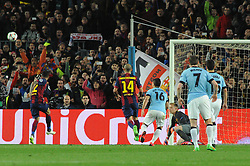Manchester City's Sergio Aguero has his penalty saved by Barcelona's Marc-Andre ter Stegen - Photo mandatory by-line: Dougie Allward/JMP - Mobile: 07966 386802 - 18/03/2015 - SPORT - Football - Barcelona - Nou Camp - Barcelona v Manchester City - UEFA Champions League - Round 16 - Second Leg