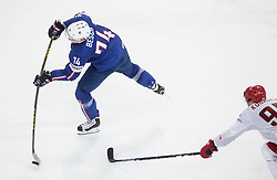 Nicolas Besch of France during the 2017 IIHF Men's World Championship group B Ice hockey match between National Teams of France and Belarus, on May 12, 2017 in AccorHotels Arena in Paris, France. Photo by Vid Ponikvar / Sportida