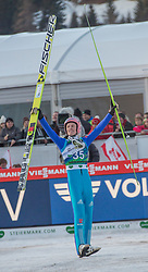 10.01.2015, Kulm, Bad Mitterndorf, AUT, FIS Ski Flug Weltcup, Bewerb, im Bild Severin Freund (GER) // reacts after his Competition Jump of the FIS Ski Flying World Cup at the Kulm, Bad Mitterndorf, Austria on 2015/01/10, EXPA Pictures © 2015, PhotoCredit: EXPA/ Dominik Angerer