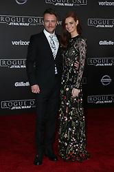 Celebrity arrivals at the world premiere of Walt Disney Pictures and Lucasfilm's 'Rogue One: A Star Wars Story' at the Pantages Theatre in Hollywood, California. 11 Dec 2016 Pictured: Chris Hardwick, Lydia Hearst. Photo credit: @parisamichelle / MEGA TheMegaAgency.com +1 888 505 6342