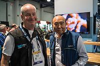 Adam Hanlon and Edward Lai (Nauticam) (DEMA 2016, Las Vegas)