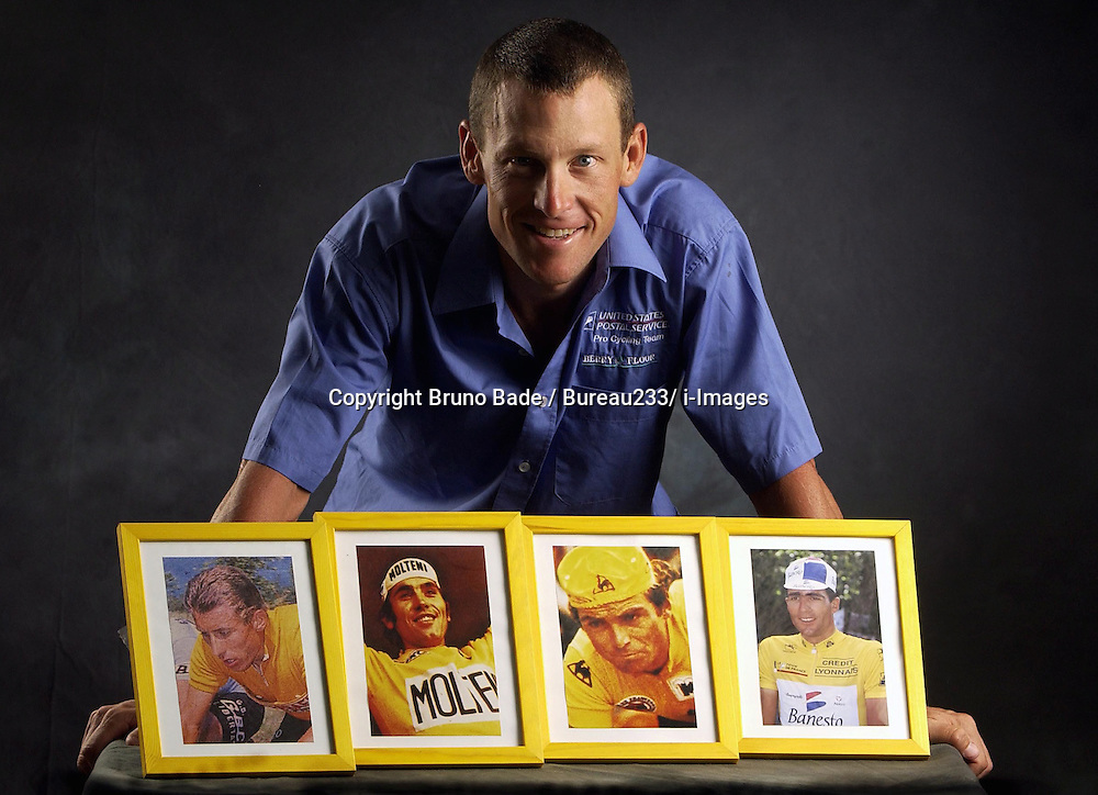 Portrait of American professional cyclist Lance Armstrong. Photo By Bruno Bade / Bureau233/ i-Images